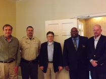 PHOTO ID (from l to r): Danny Hammock, Chairman, Washington County Airport Authority, Major Mark McGraw, Washington County Sheriff's Office, Sheriff Thomas Smith, Washington County Sheriff, Captain Corey King, Washington County Sheriff's Office, Rusty McCall (McCall & Associates. Inc.)